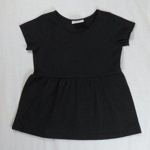 Hanna Andersson 100 4T 4 Peplum Top Shirt Black
